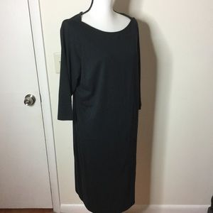 JESSICA LONDON Little Black Midi Dress Size 16